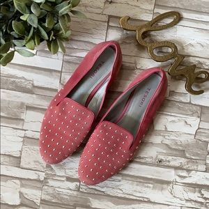 Tesori Studded Suede Loafers